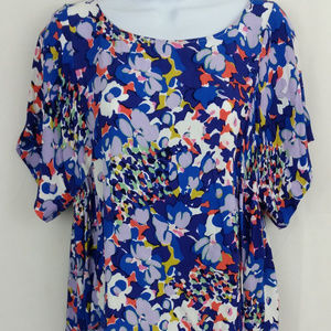 MAEVE Milla Top Blue Floral LARGE
